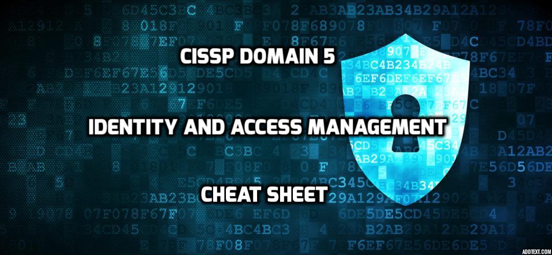 cissp cheat sheet 2017 pdf